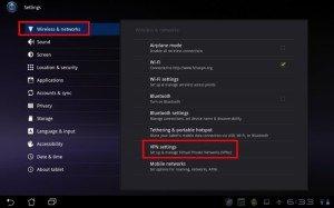 come configurare una vpn su android
