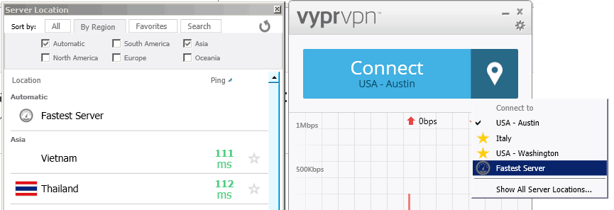 fastest server VyprVPN