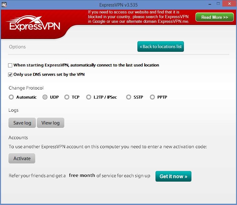 expressvpn video options