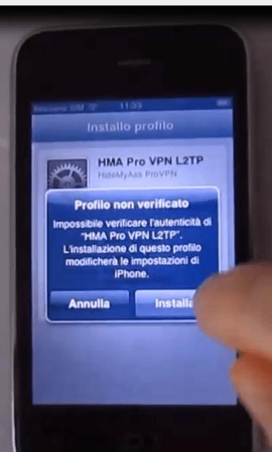vpn client per iOS