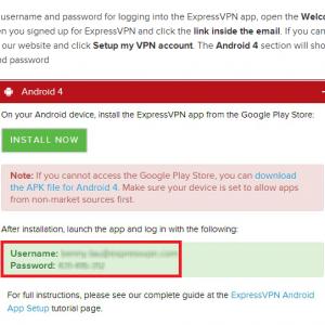 ExpressVPN VPN per android