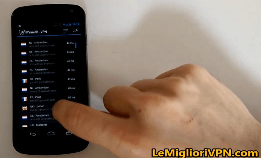 IPVanish android vpn client