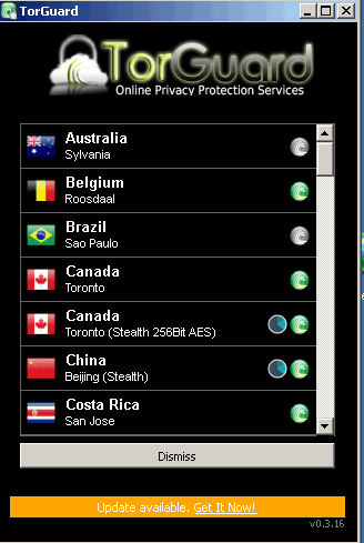 torguard lista server