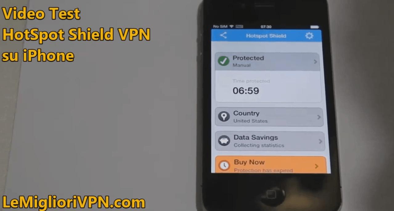Video Test HotSpot Shield VPN per iOS 4 .3