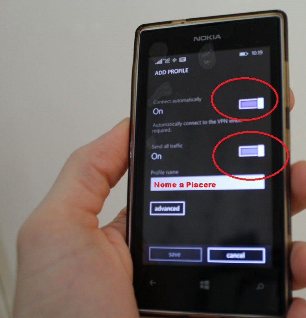 VPN su Windows Phone