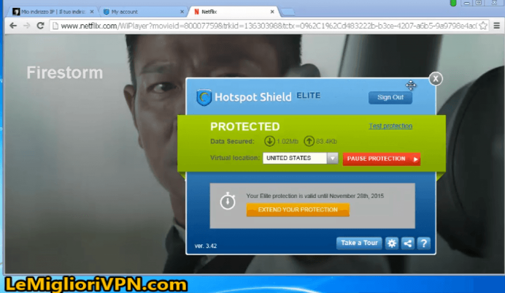 video test hotspot shield netflix