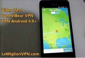 VPN per Android 4.0 di TunnelBear