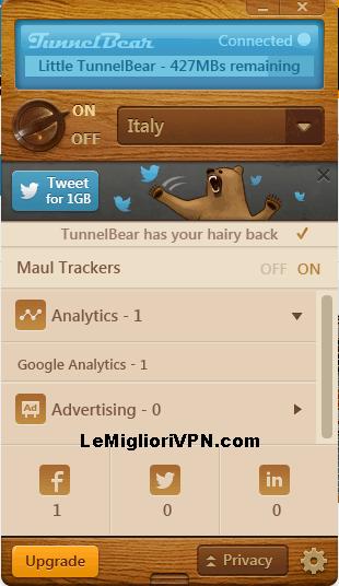 tunnelbear maul trackers