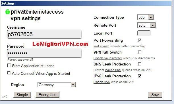 private internet access interfaccia 3