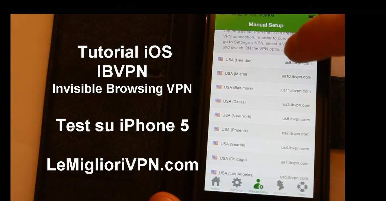 IBVPN per iOS