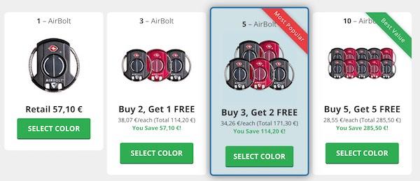 Airbolt prezzo