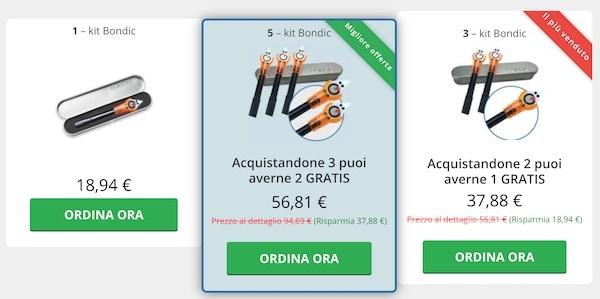 Prezzi Bondic colla