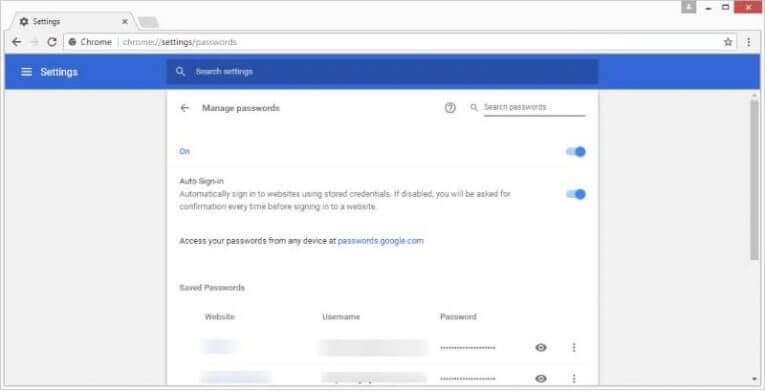 Gestire le password con Chrome password manager