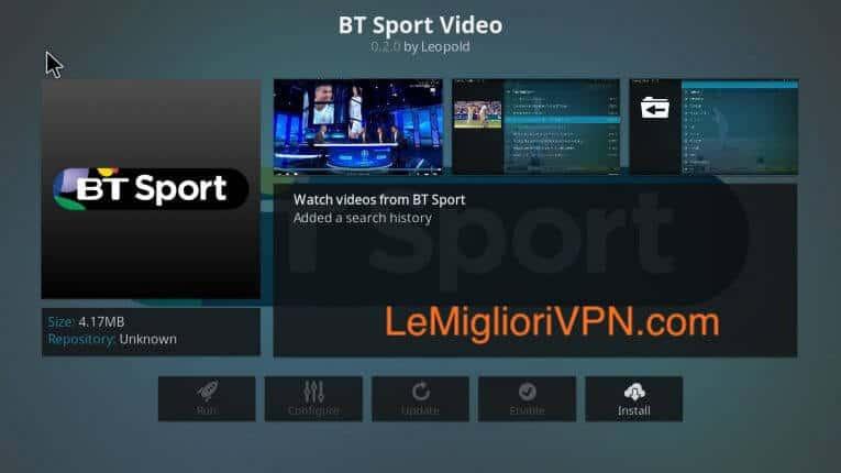 Kodi BT Sport