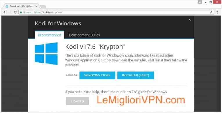 Installare Kodi su Windows