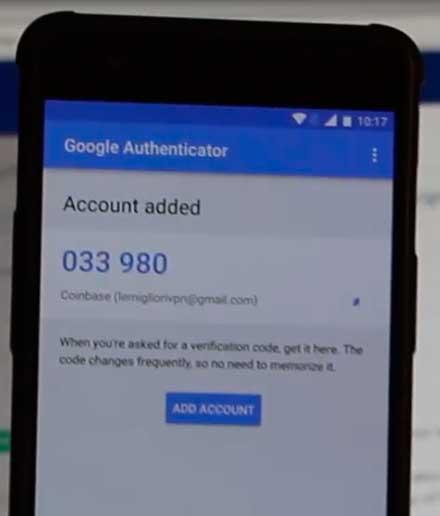 google authenticator codice coinbase