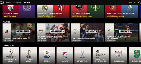 dazn calcio streaming