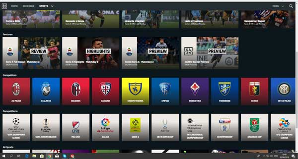 DAZN all'estero e accesso a partite streaming serie A e Champions