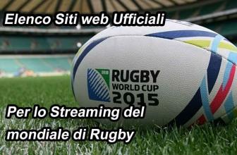 Siti ufficiali dove seguire il mondiale di rugby in streaming