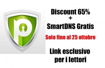 Offerta Lampo fino a lunedi 25 ottobre : SmartDNS Gratis e sconto 65% per i nostri lettori