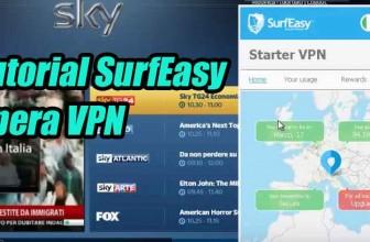 Tutorial SurfEasy VPN di Opera Browser in test con SkyGo