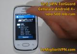 Video prova Torguard VPN per cellulare Android | BitTorrent sul cellulare