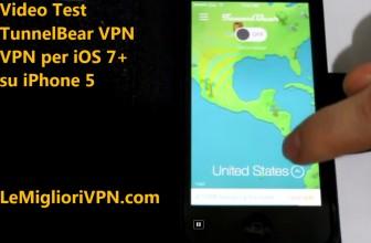 Video test di TunnelBear VPN per iOS 7 o superiore su iPhone 5